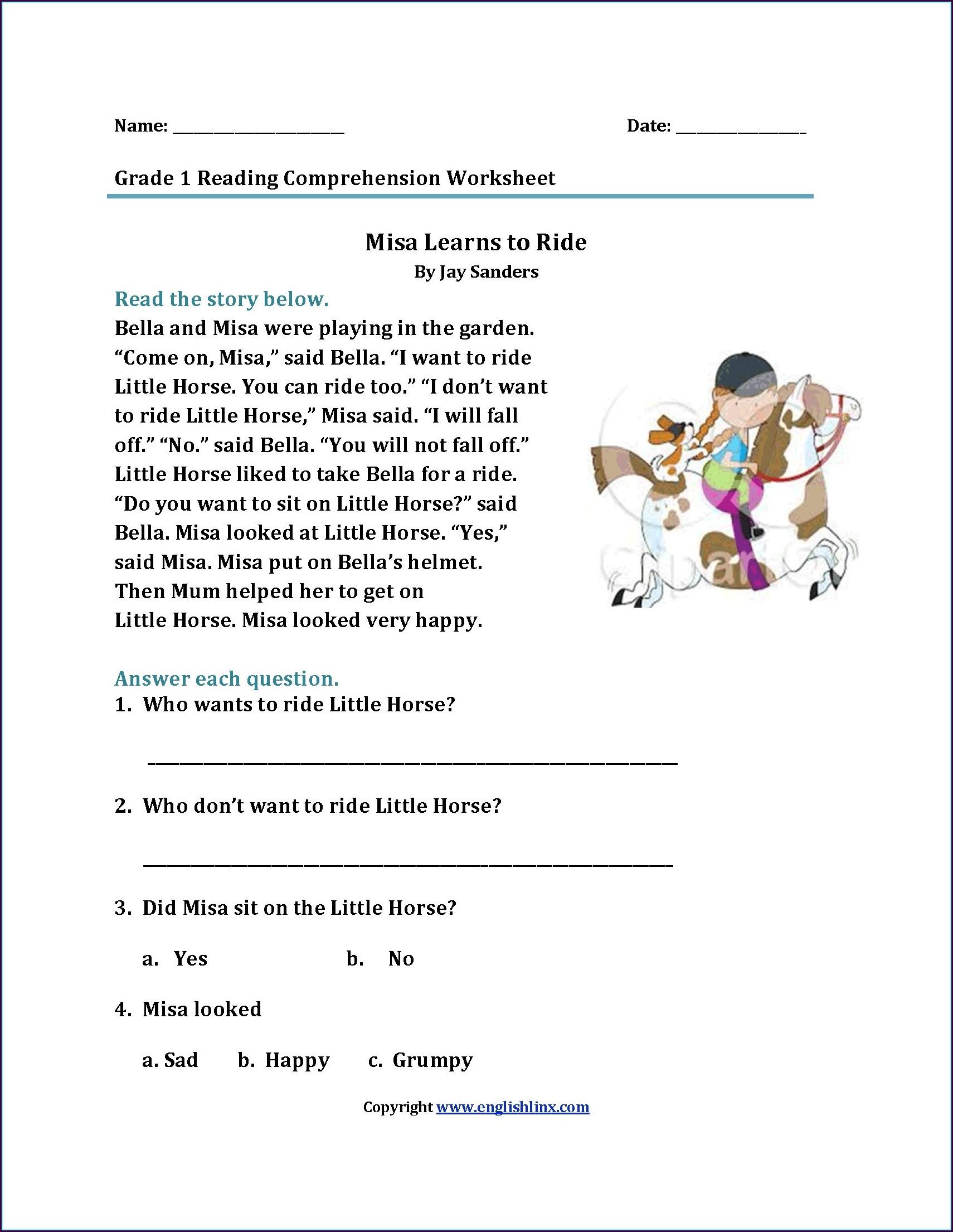 Reading Comprehension Games 3rd Grade Printable