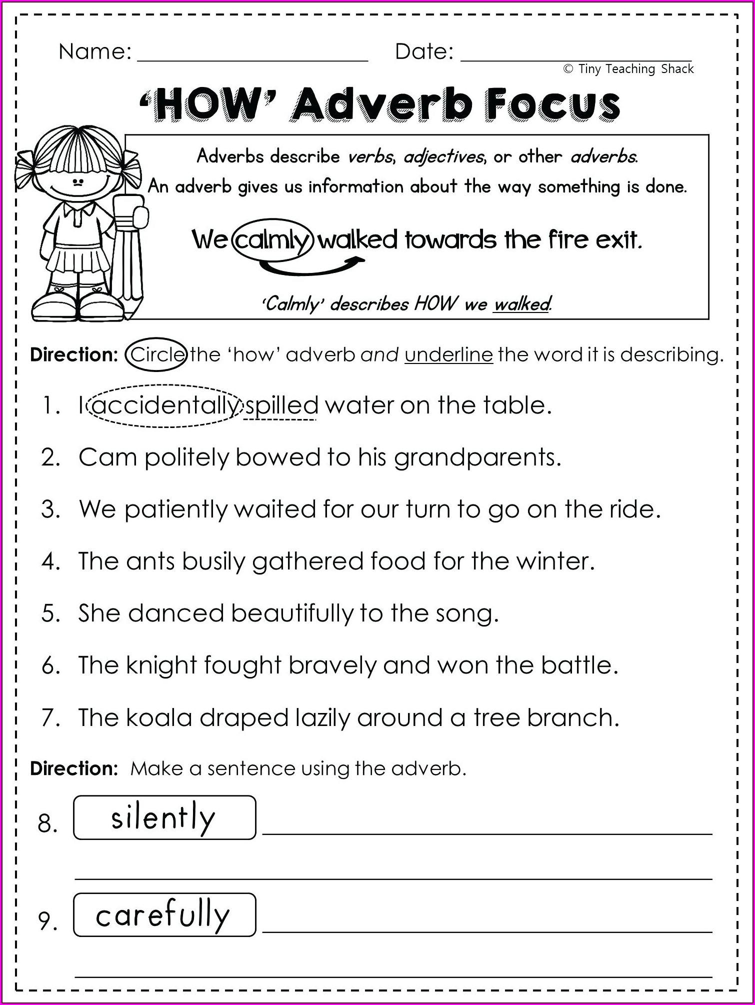 Reading Comprehension Printable 5th Grade Worksheets