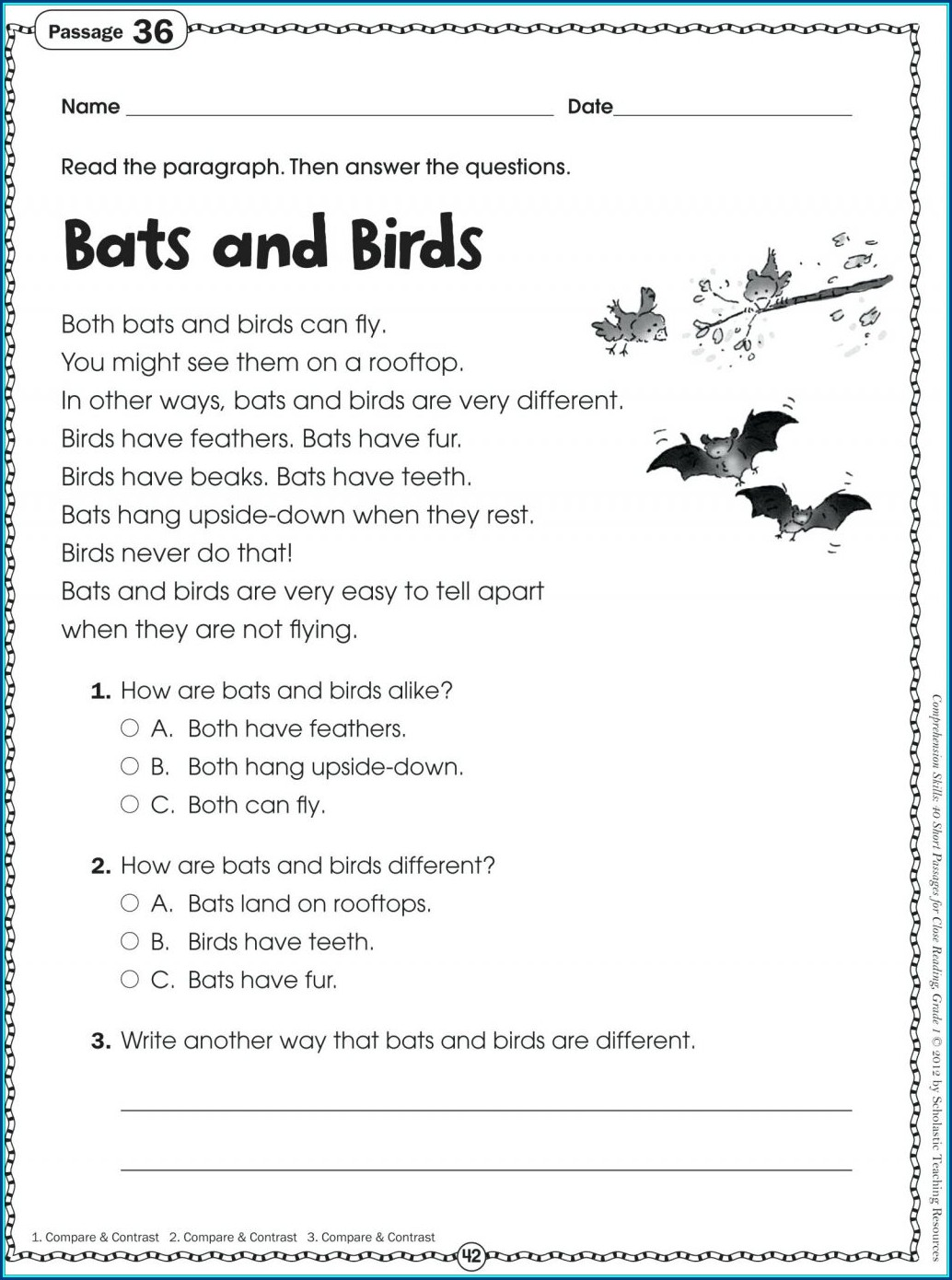 Reading Comprehension Worksheets With Questions