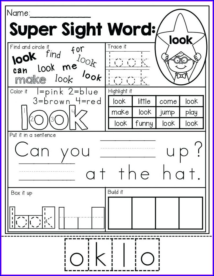Reading Kindergarten Worksheets Pdf Free Download