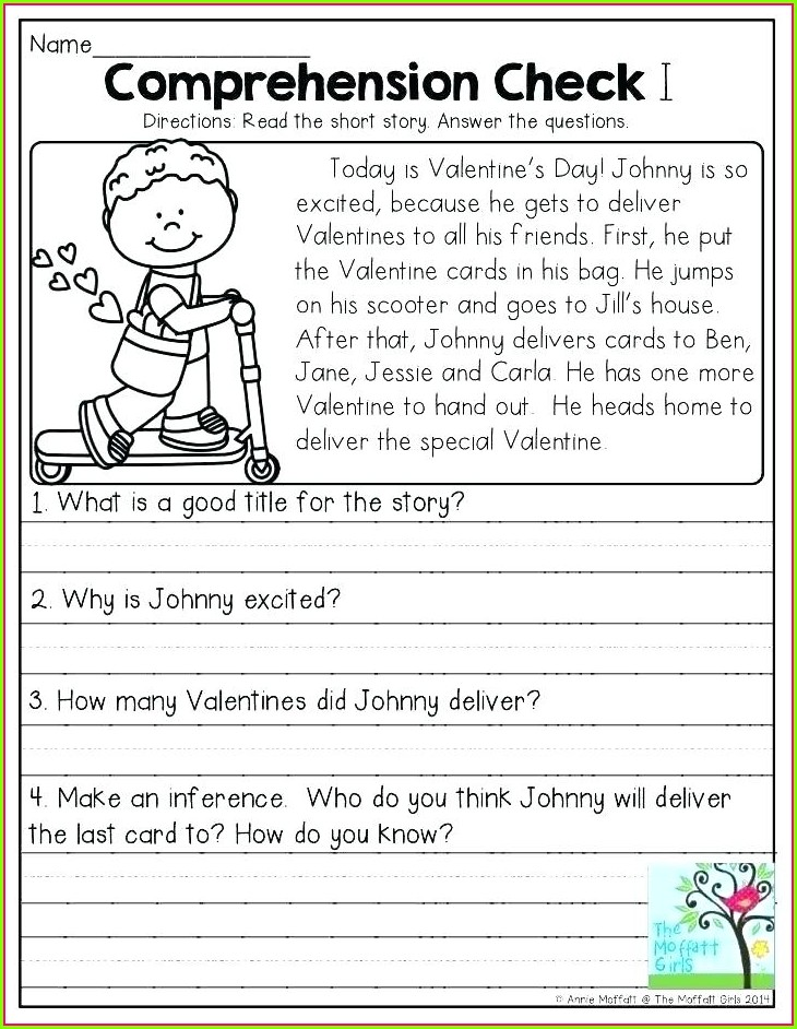 Reading Worksheet For Grade 1 Pdf