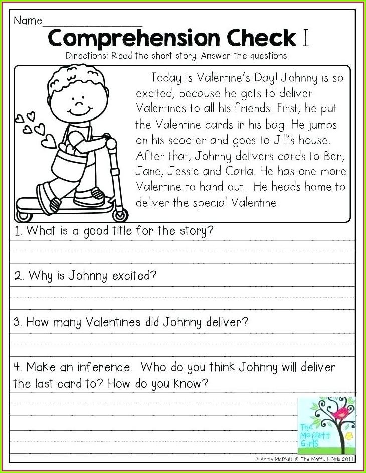 Reading Worksheet For Grade 1 Pdf