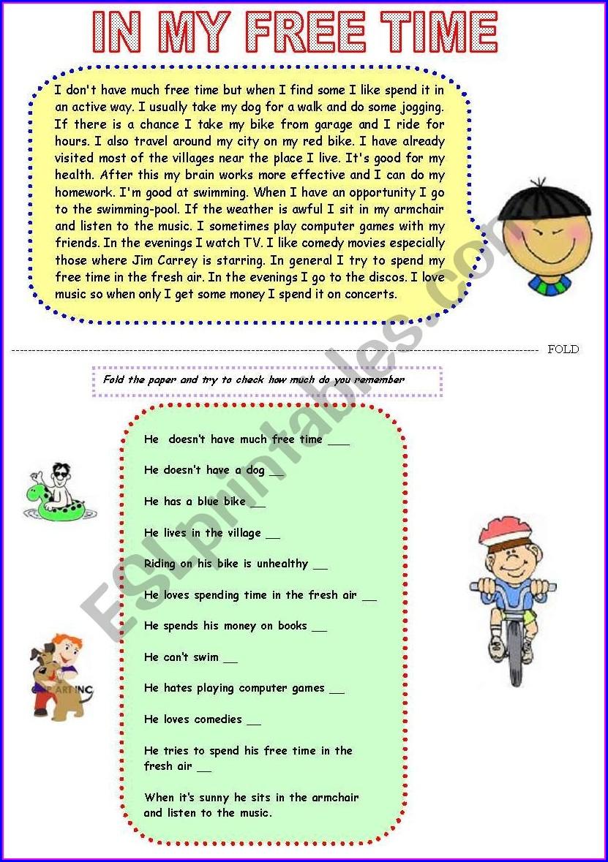 Reading Worksheet Pre Intermediate