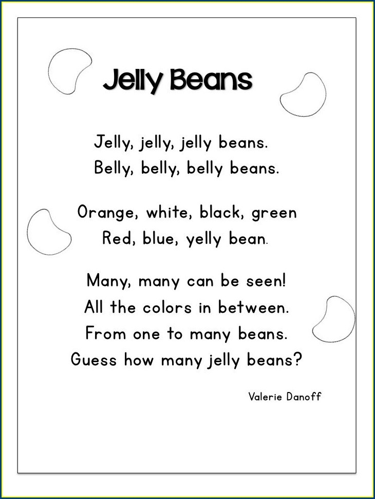 Rhyming Words Poem Worksheet For Grade 1
