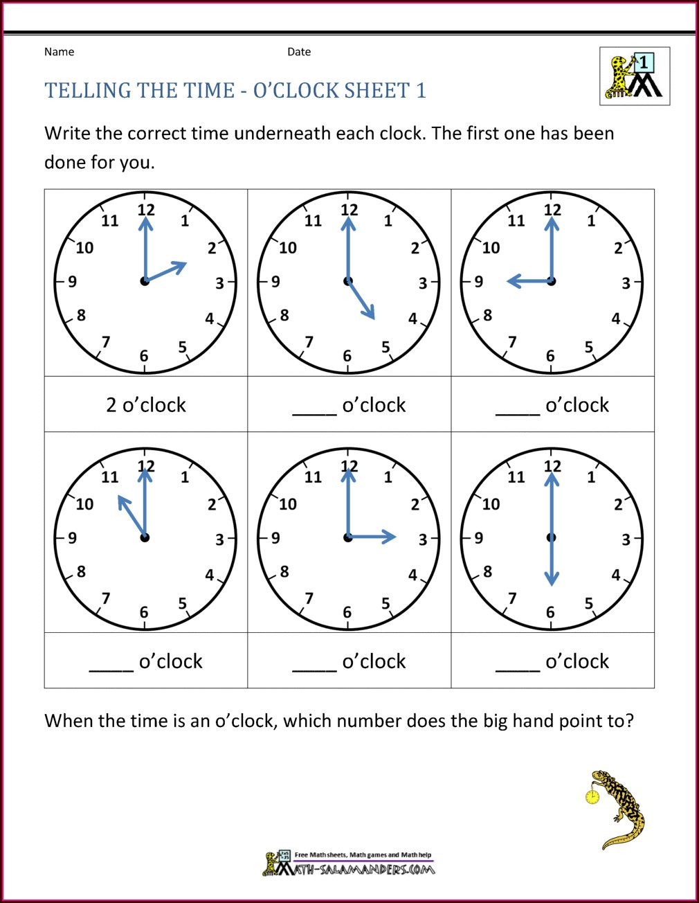 Roman Numerals Time Worksheet Year 3