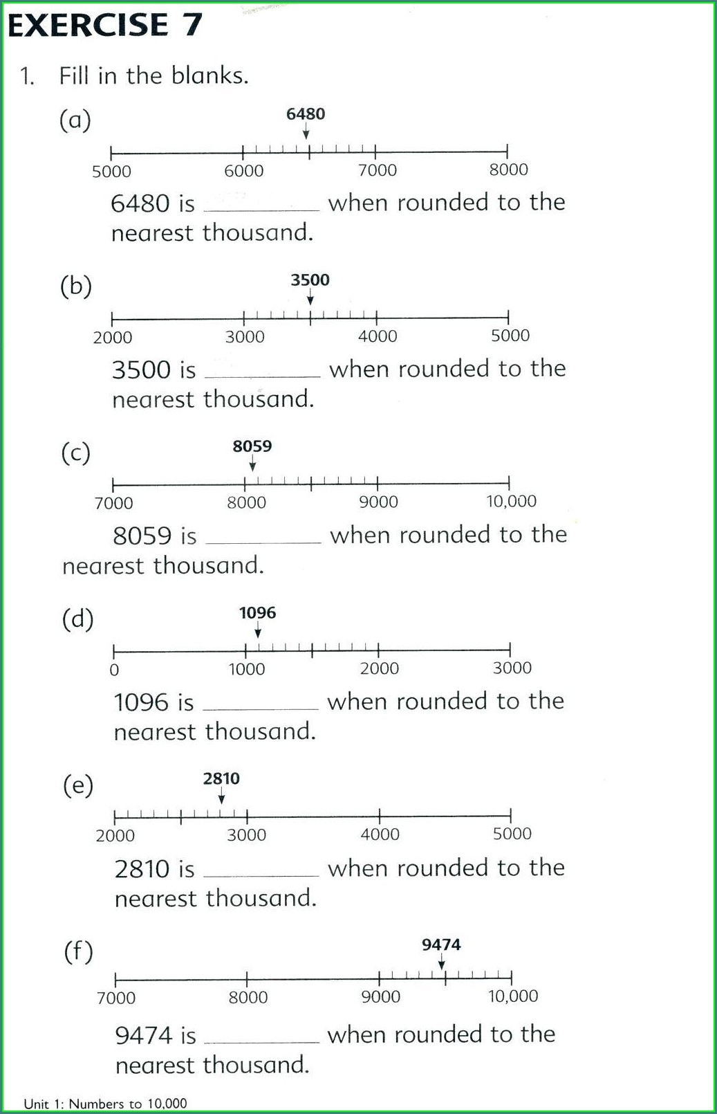 Rounding Decimals Worksheet Printable