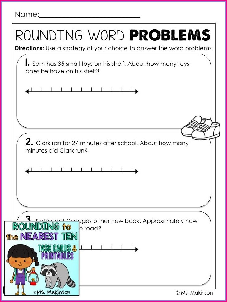 Rounding Numbers Problem Solving Worksheets