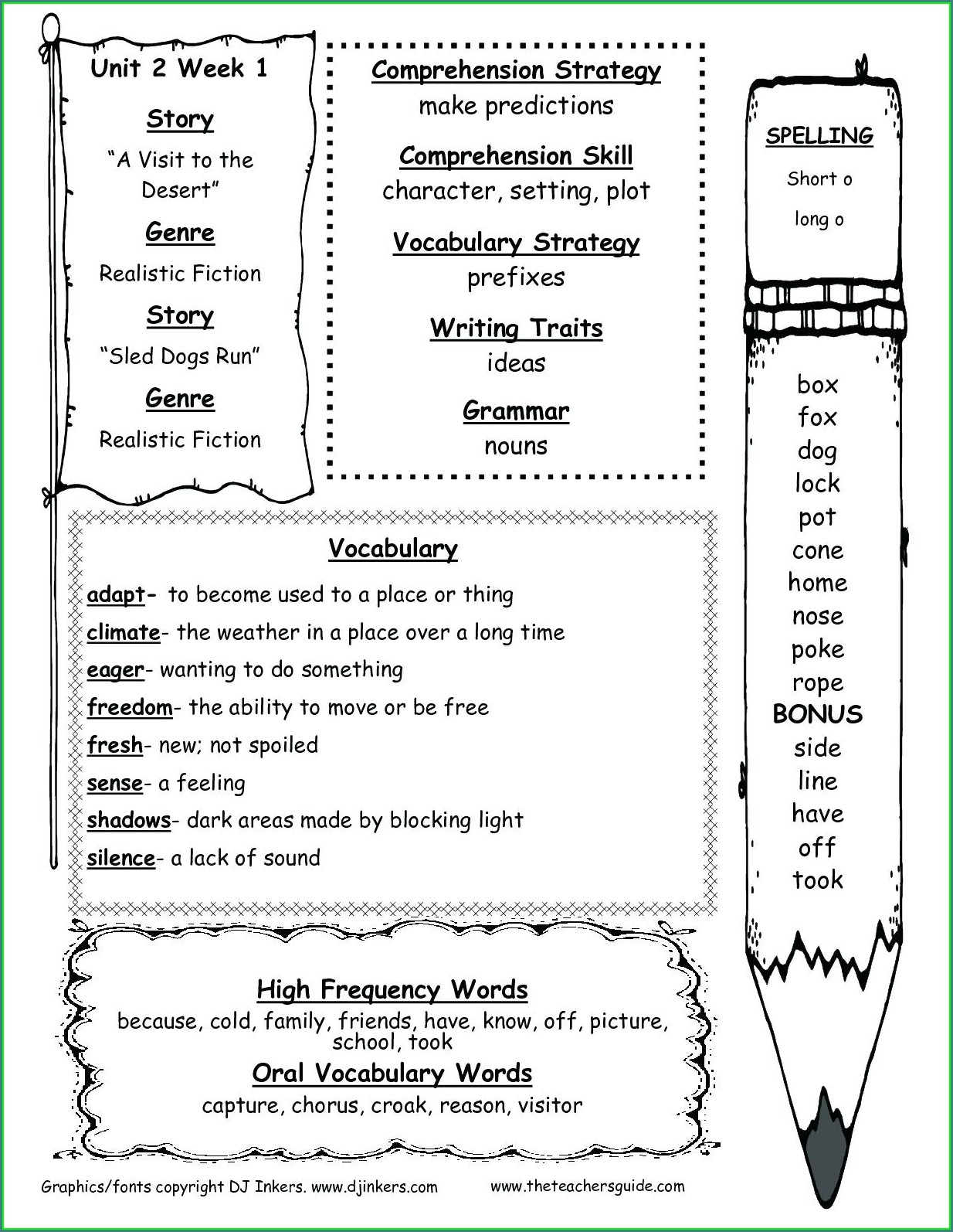 School Worksheets For 2nd Graders