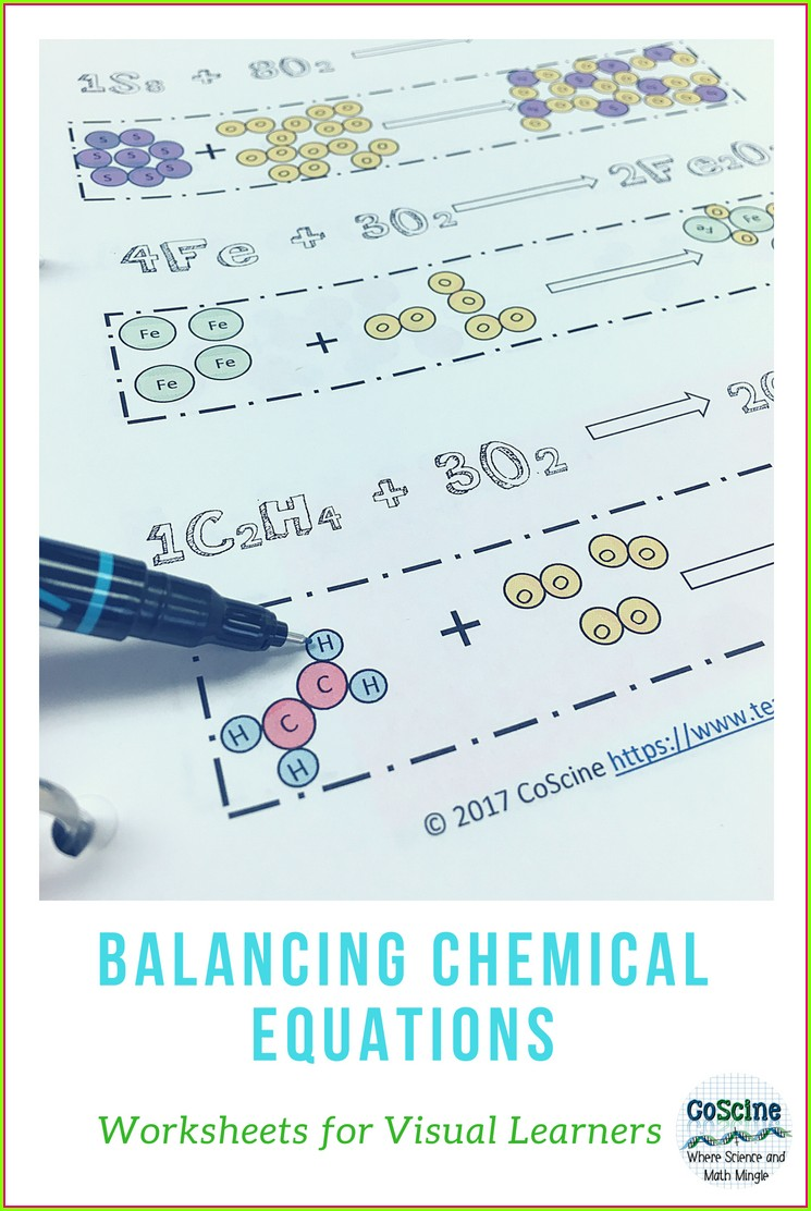 Science Balancing Chemical Equations Worksheet