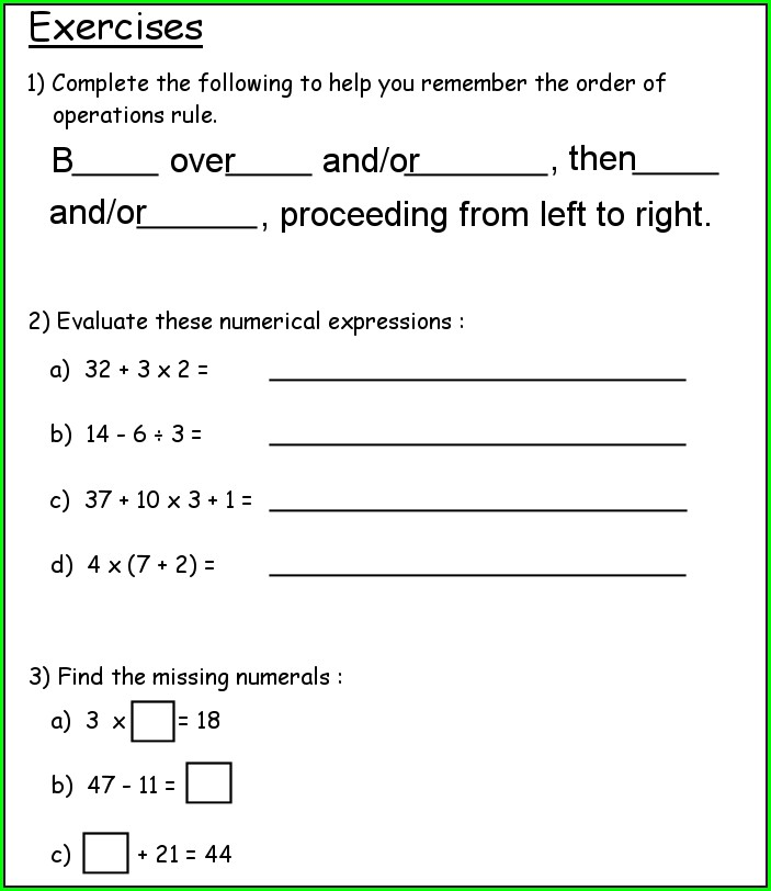 Science Revision Worksheet Year 7