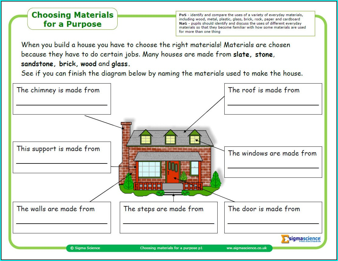 Science Worksheet Year 2
