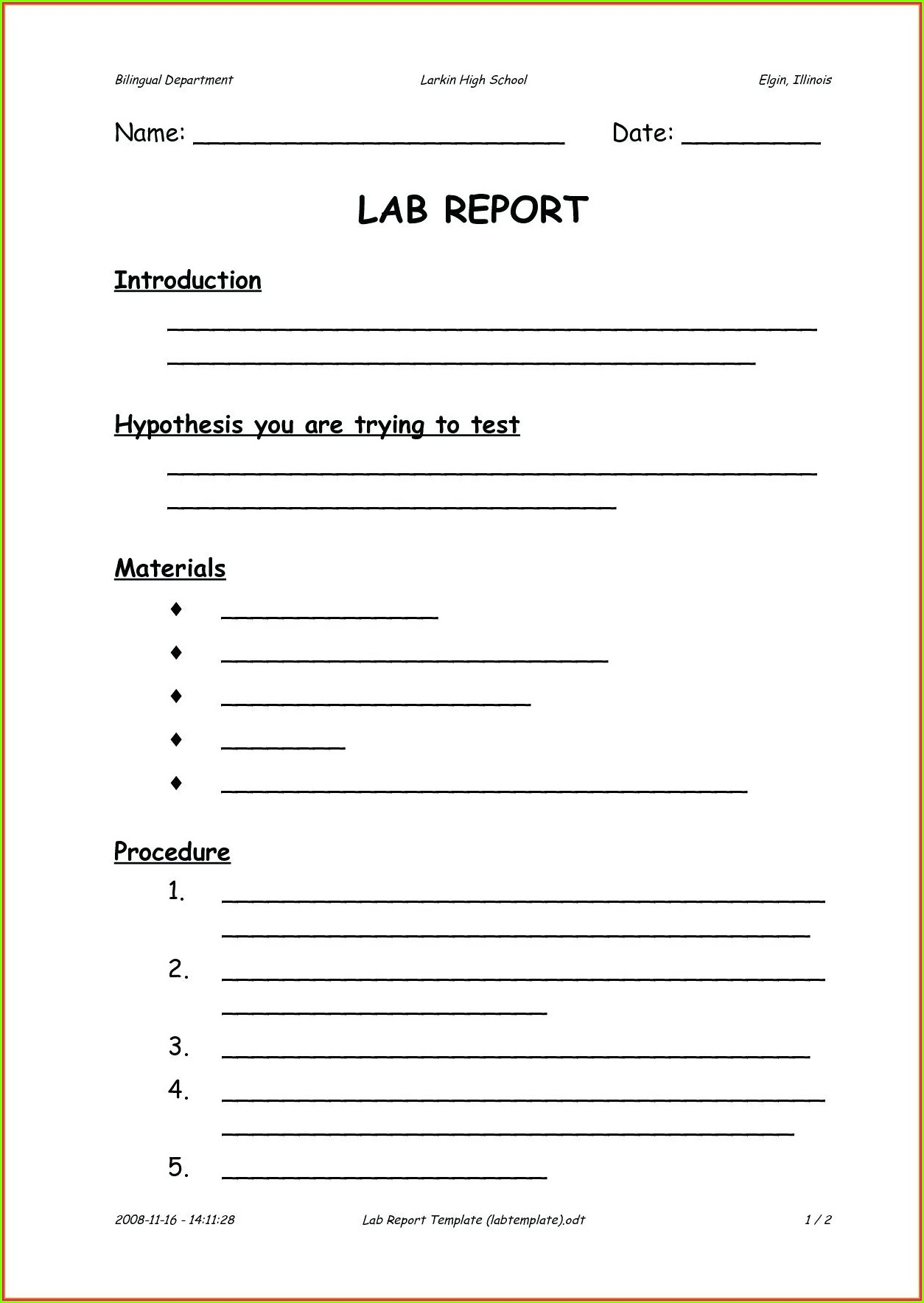 Scientific Method Review Worksheet Middle School