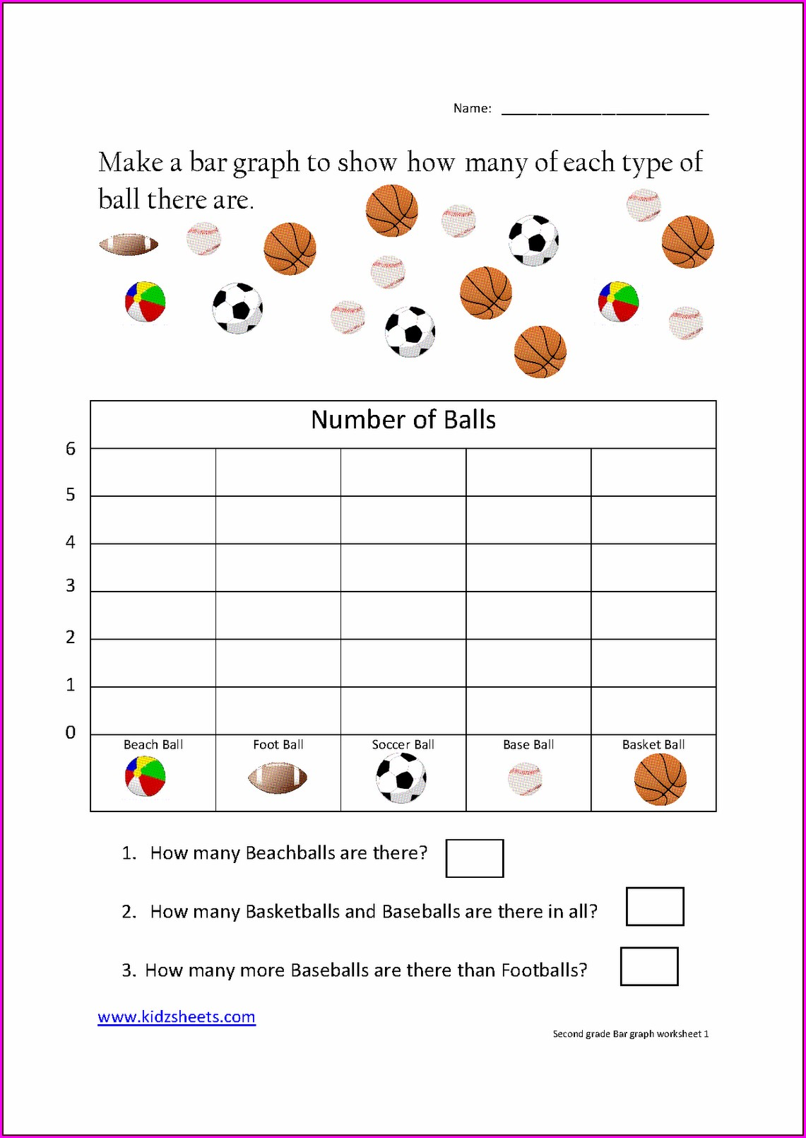 Second Grade Graphing Worksheets