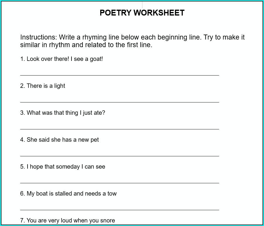 Sentence Writing Worksheets For Esl Students