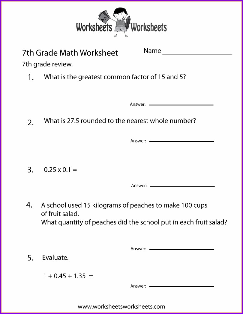 Seventh Grade Printable 7th Grade English Worksheets