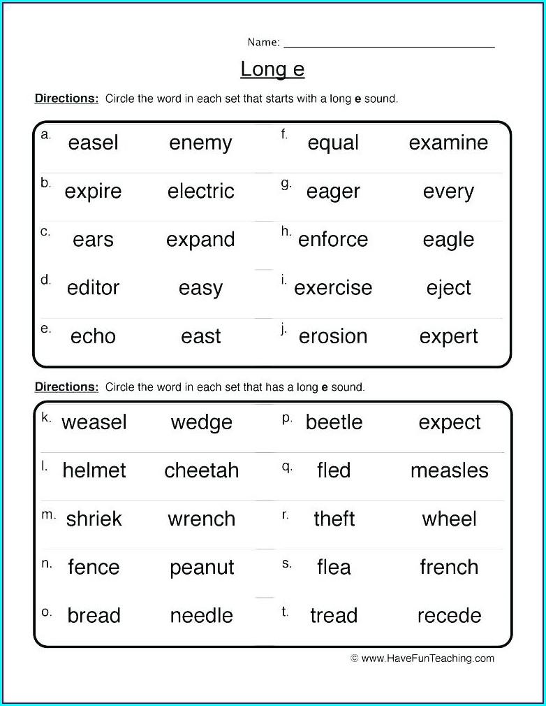 Short Vowel Worksheets 3rd Grade
