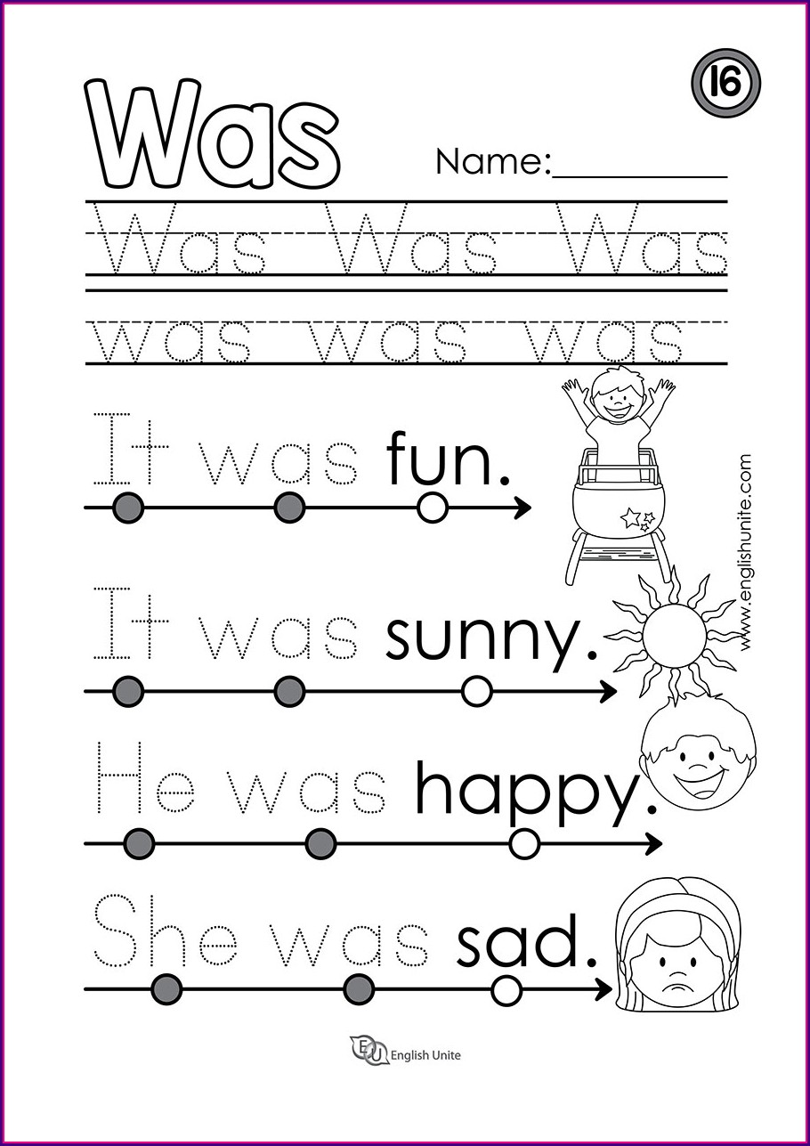 Sight Word 1st Grade Worksheets Writing