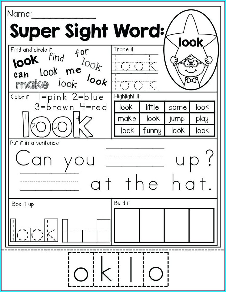 Sight Word Can Worksheet Free