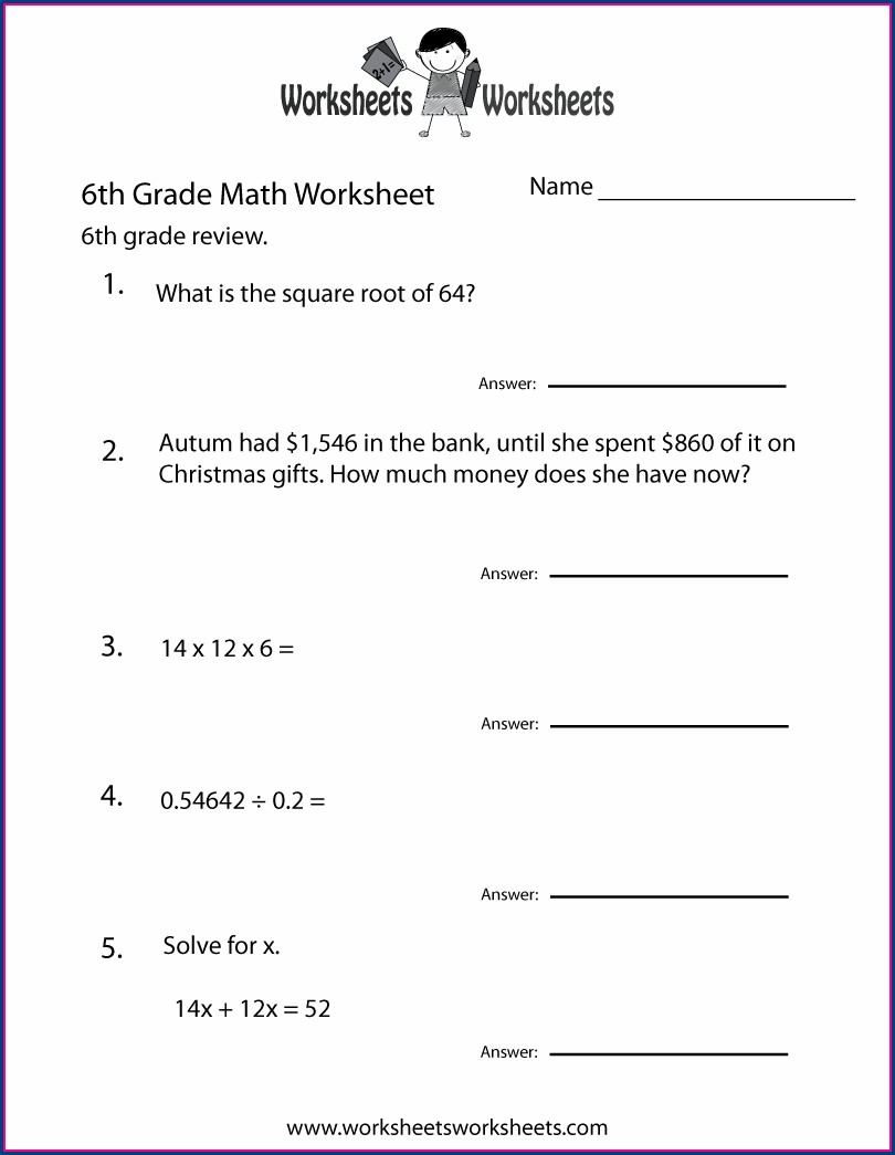 Sixth Grade Grade 6 English Worksheets Printable