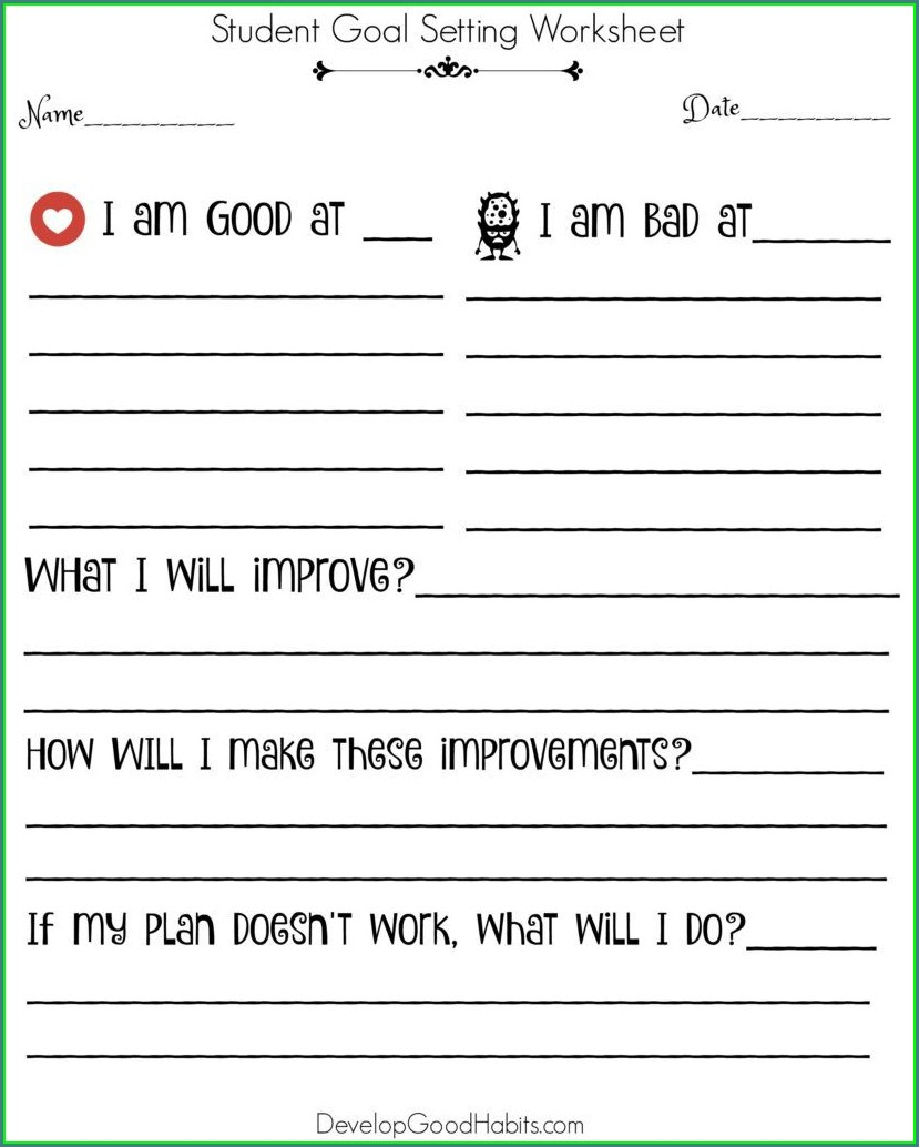 Smart Goals Worksheet For Athletes