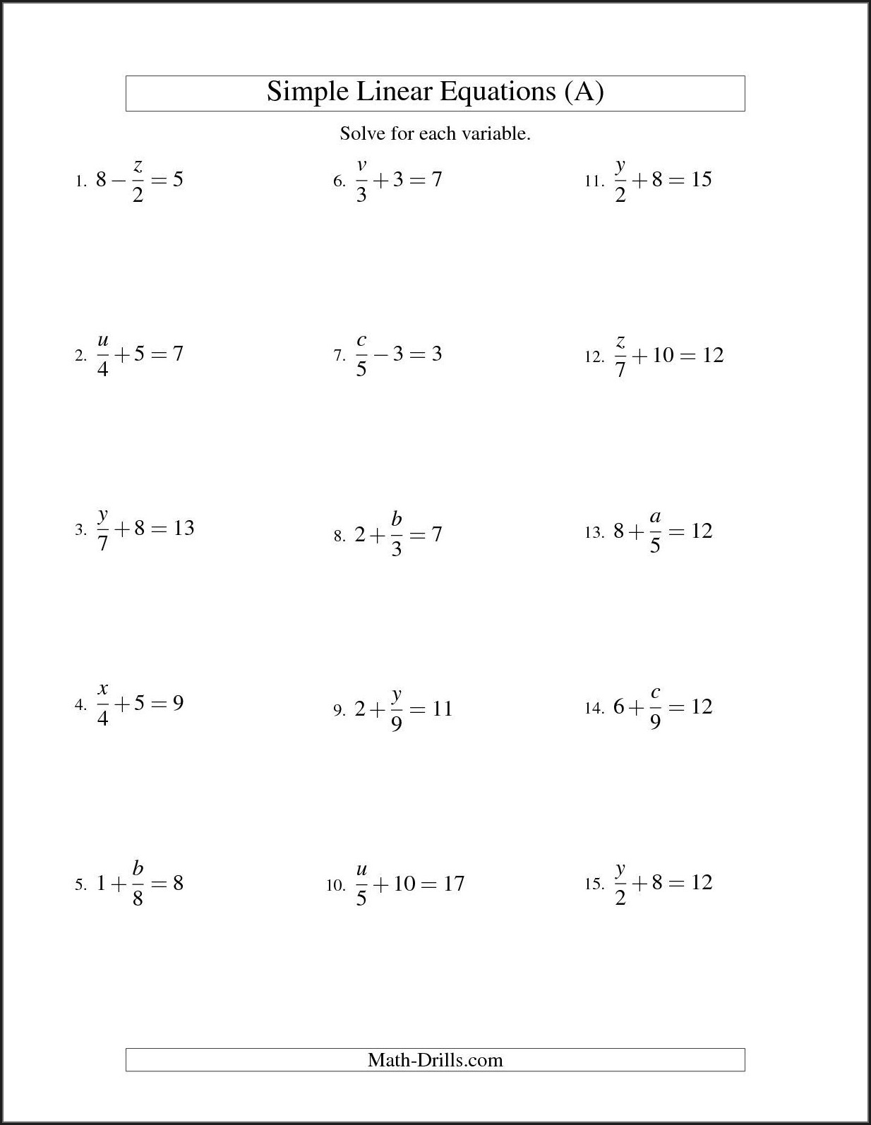 Solving Inequalities Worksheet Ks3