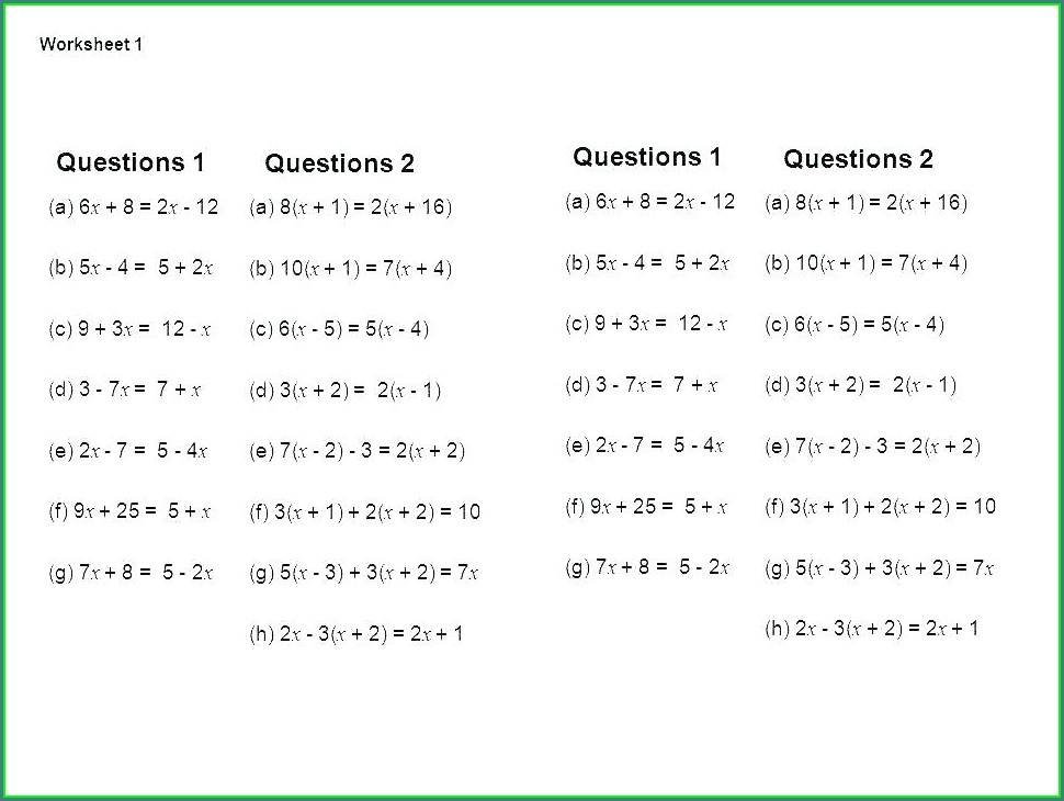 Solving Systems Of Equations Word Problems Worksheet Answer Key