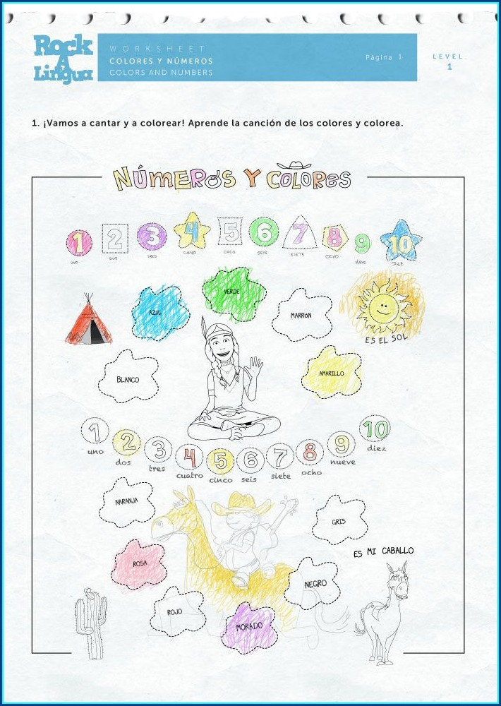 Spanish Numbers Worksheet For Preschool