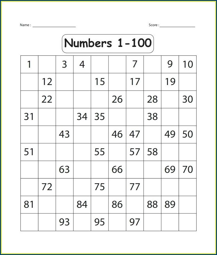 Spelling Words Numbers Worksheet