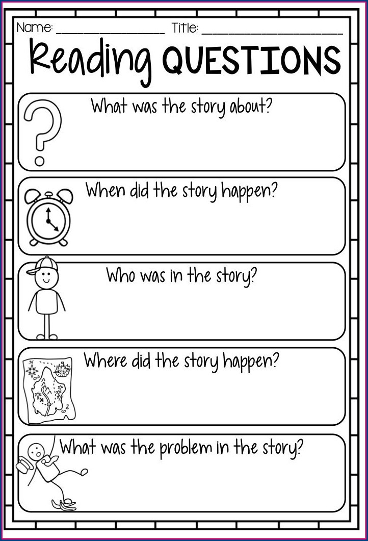 Story Element Worksheet Second Grade
