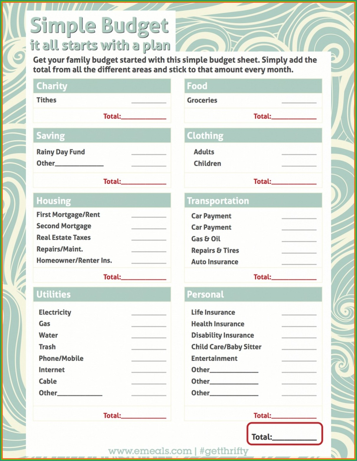 Student Budget Worksheet Answers
