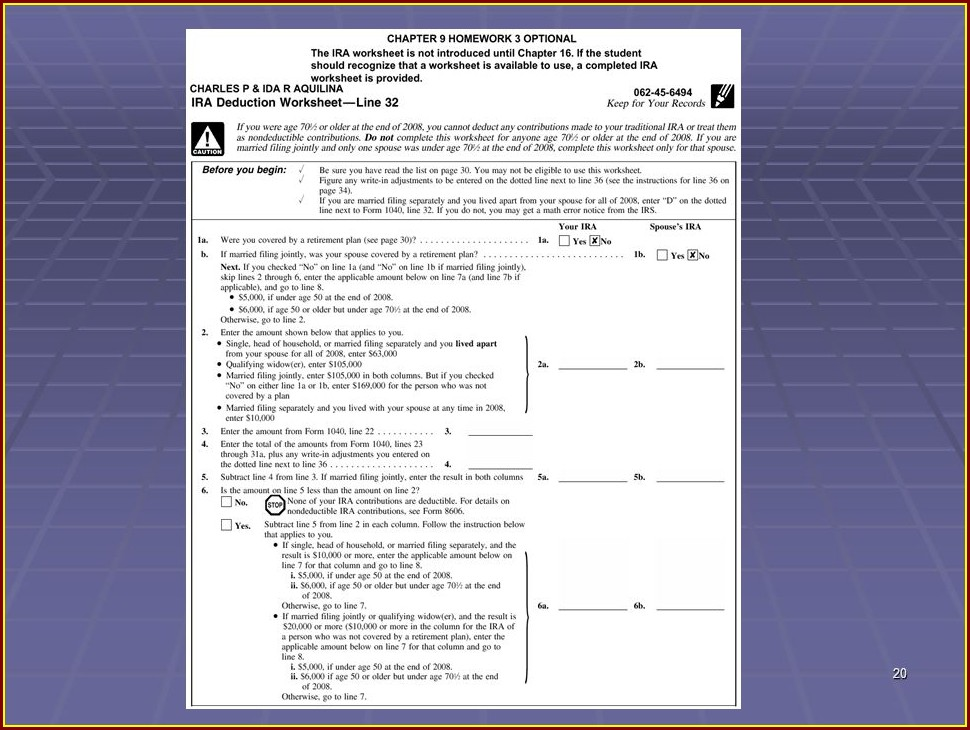 Tax Credit Worksheet Line 52