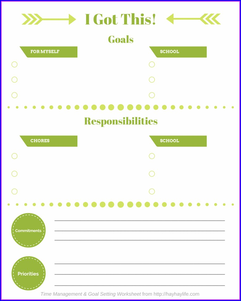 Teaching Time Management Worksheets