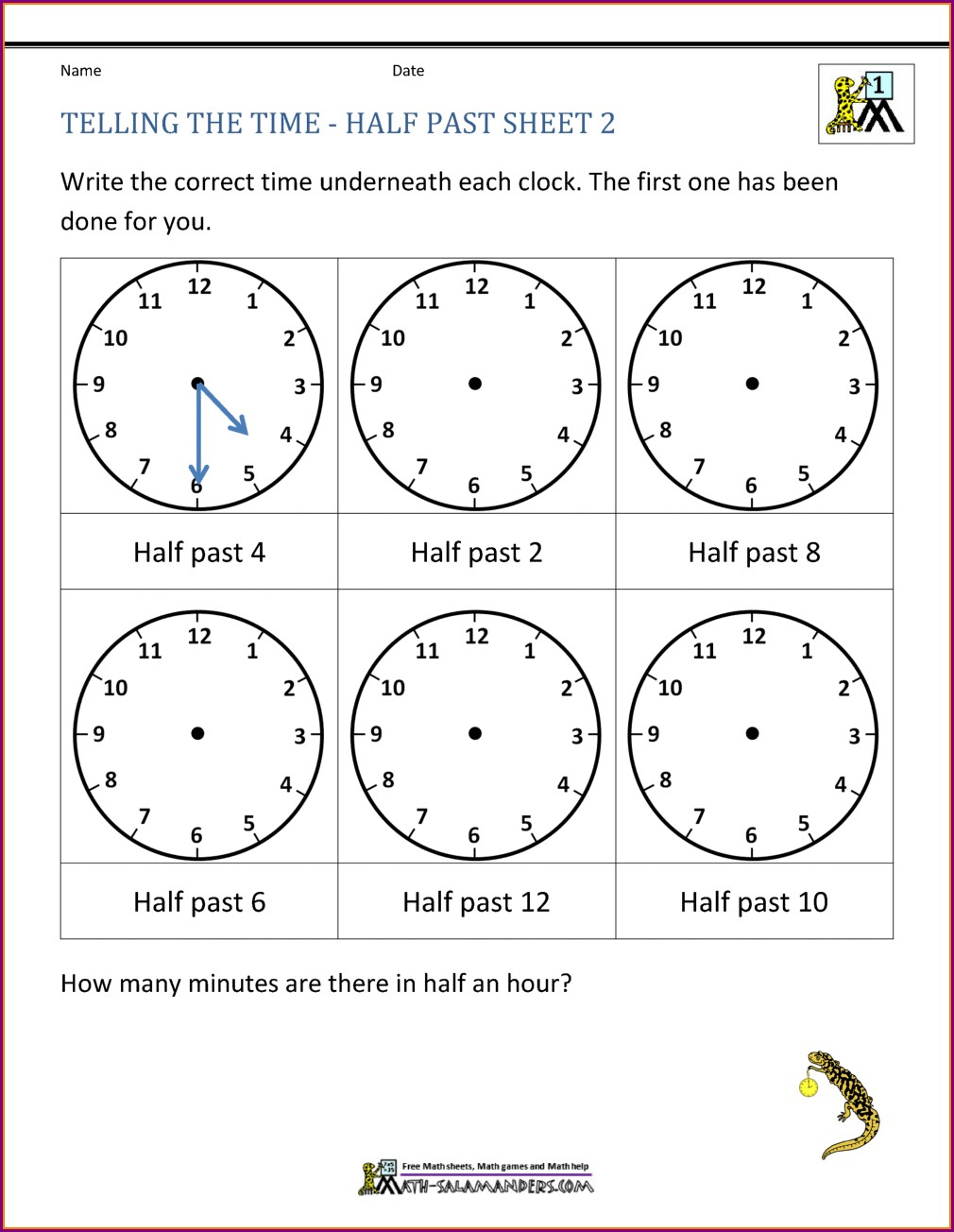 Teaching Time Worksheets Uk