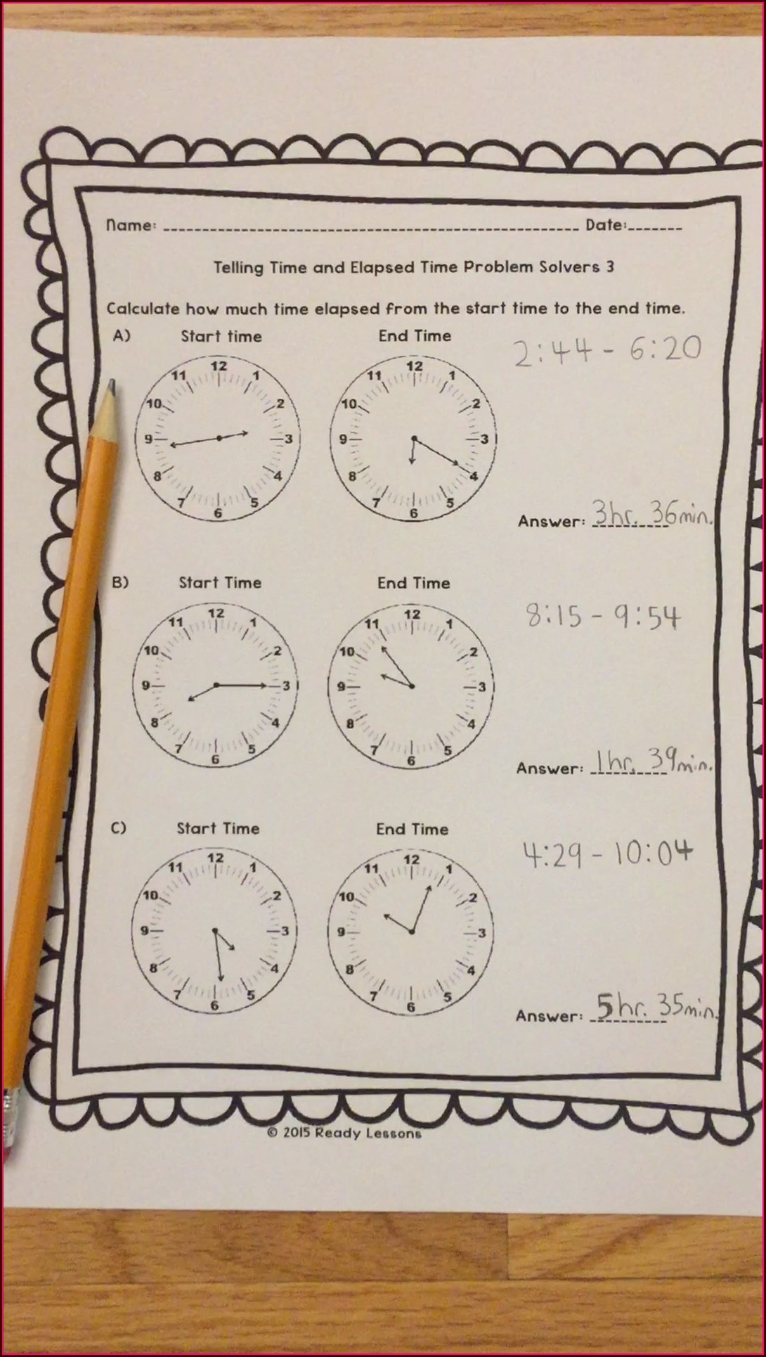 Telling Time To The Minute Worksheets Grade 3