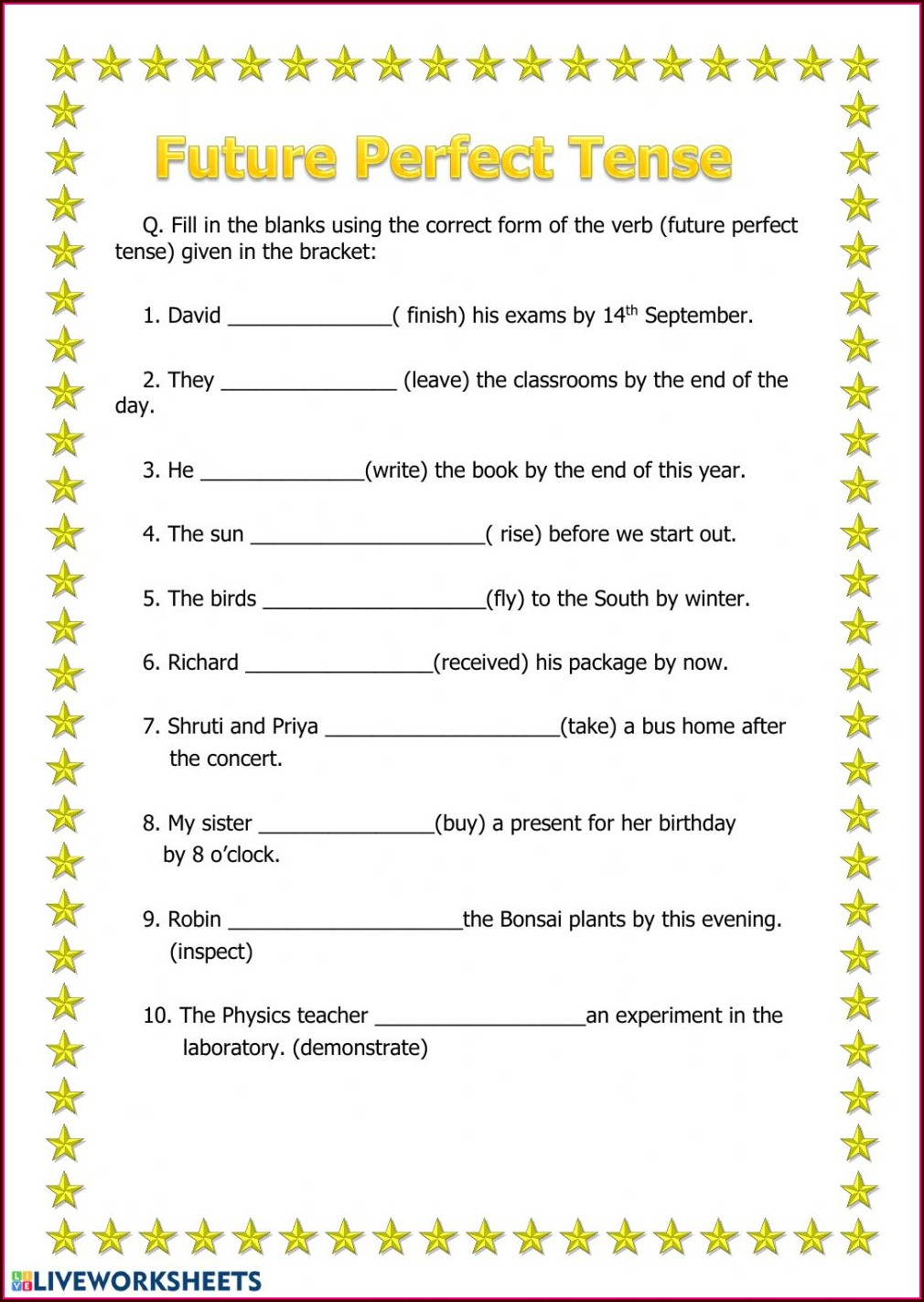 Tenses Worksheets For Grade 2 Pdf