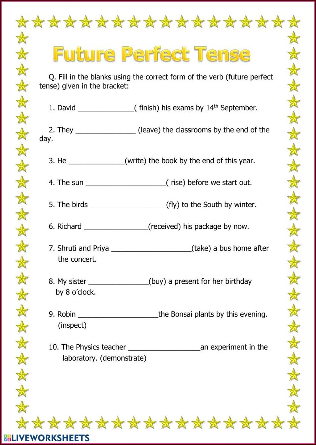 Tenses Worksheets For Grade 2 Pdf