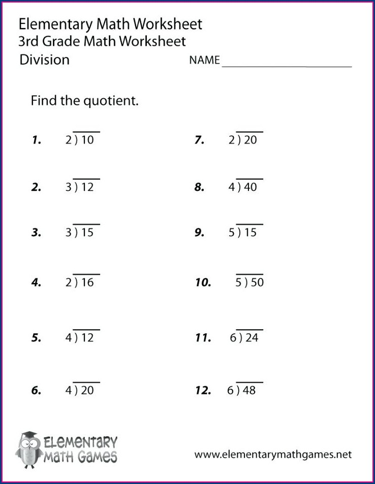 Third Grade Math Addition And Subtraction Worksheets