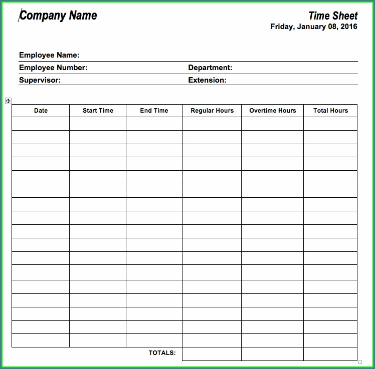 Time Management Worksheets For Employees