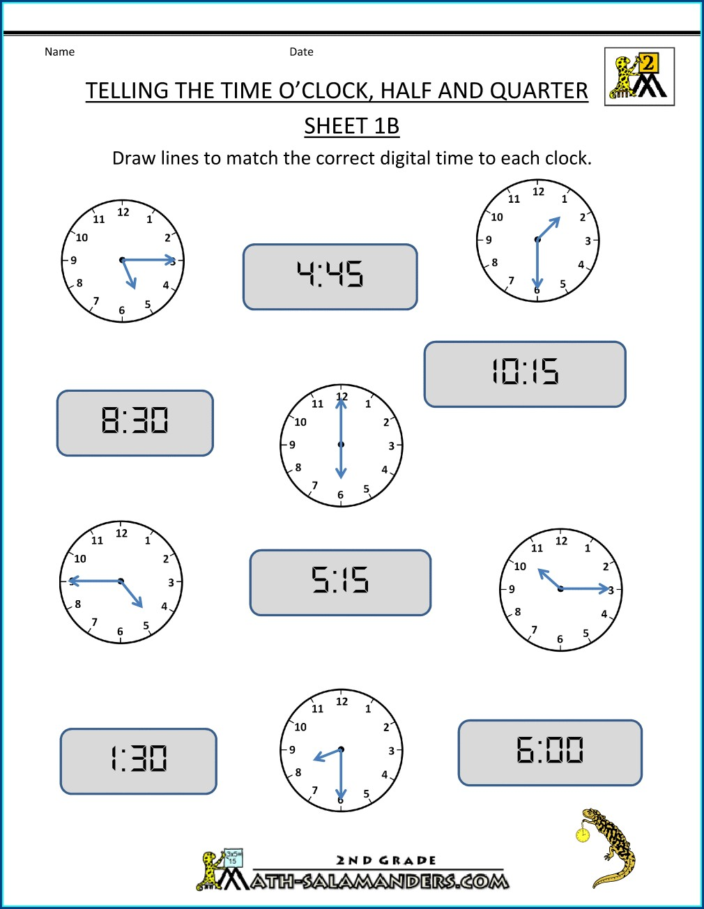Time Worksheet Oclock