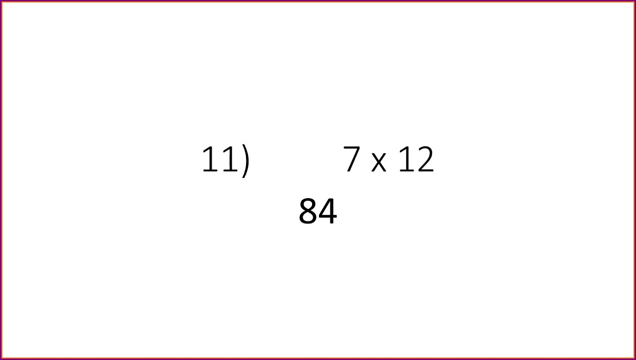 Times Table Quiz Questions