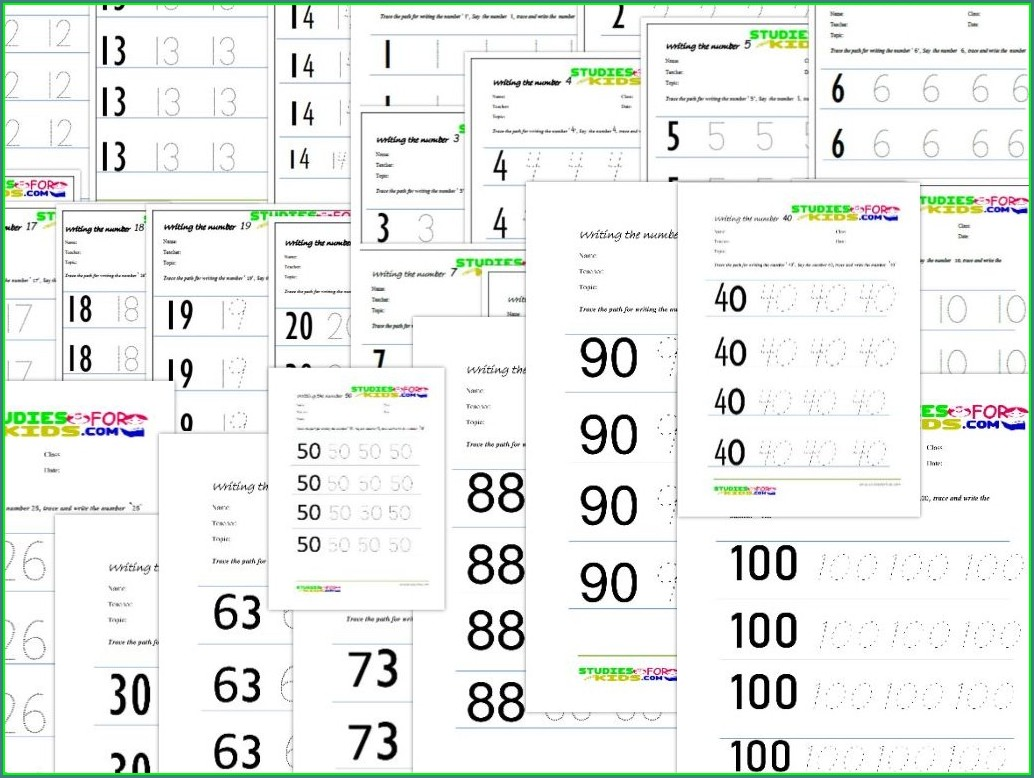 Traceable Number Tracing Worksheets Pdf