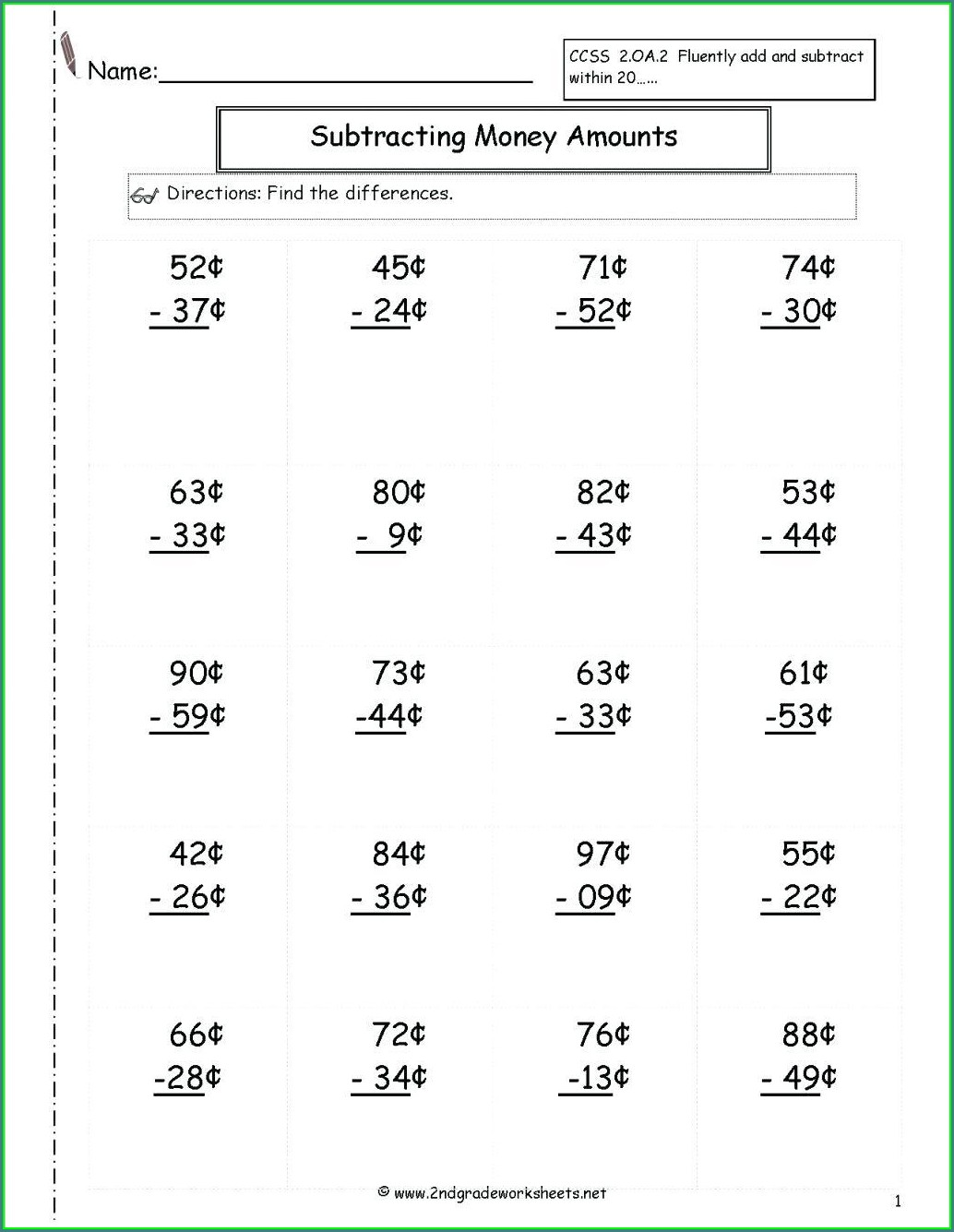 United States Map Worksheets For 2nd Grade