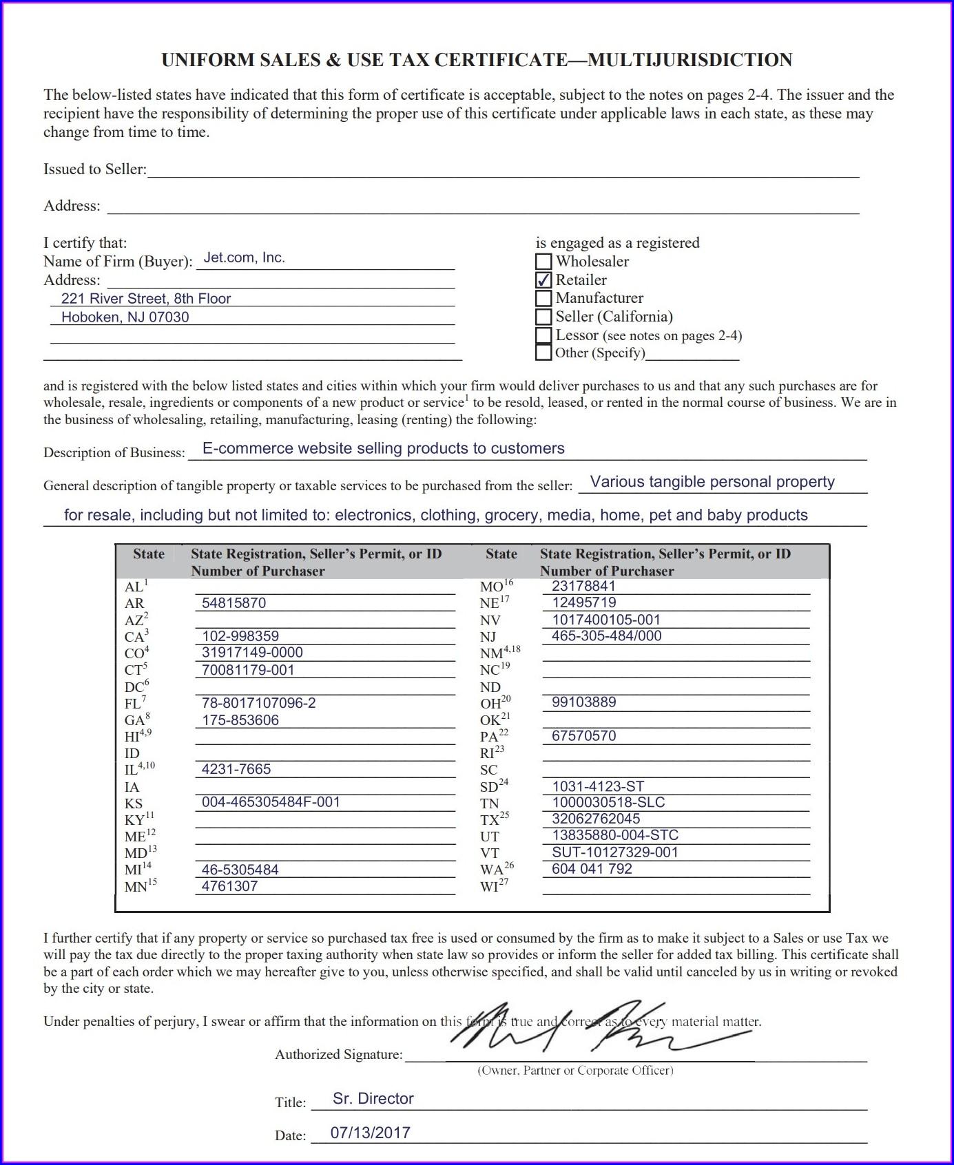 Use Tax Worksheet Pa
