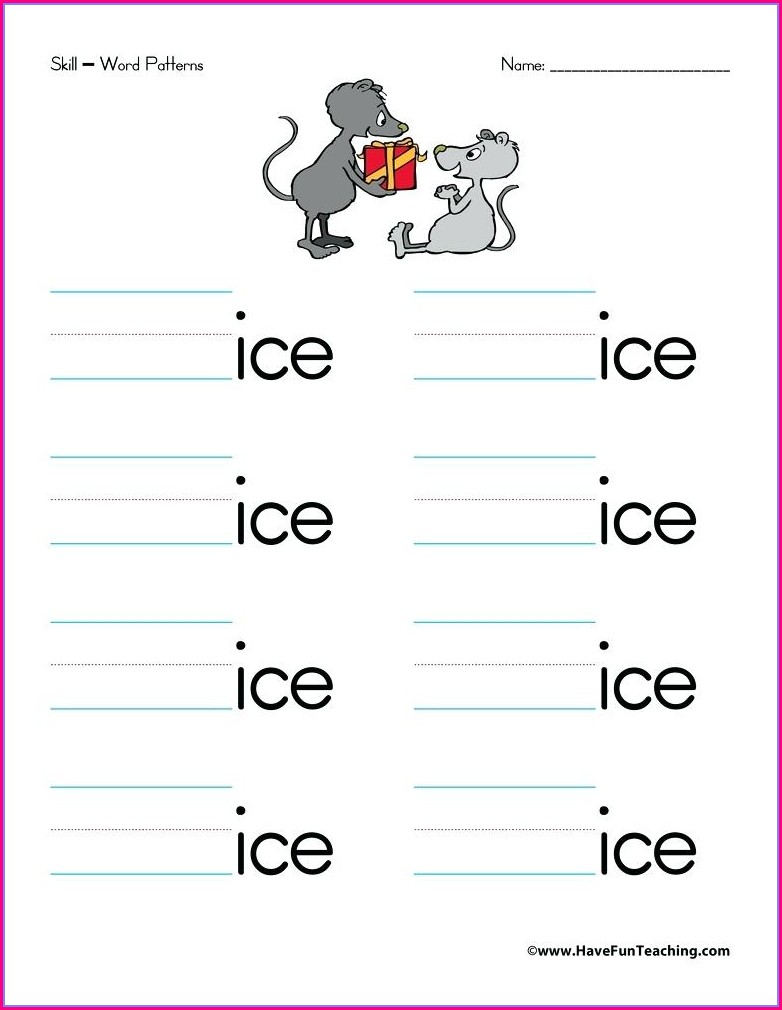 Ut Word Family Worksheets Kindergarten