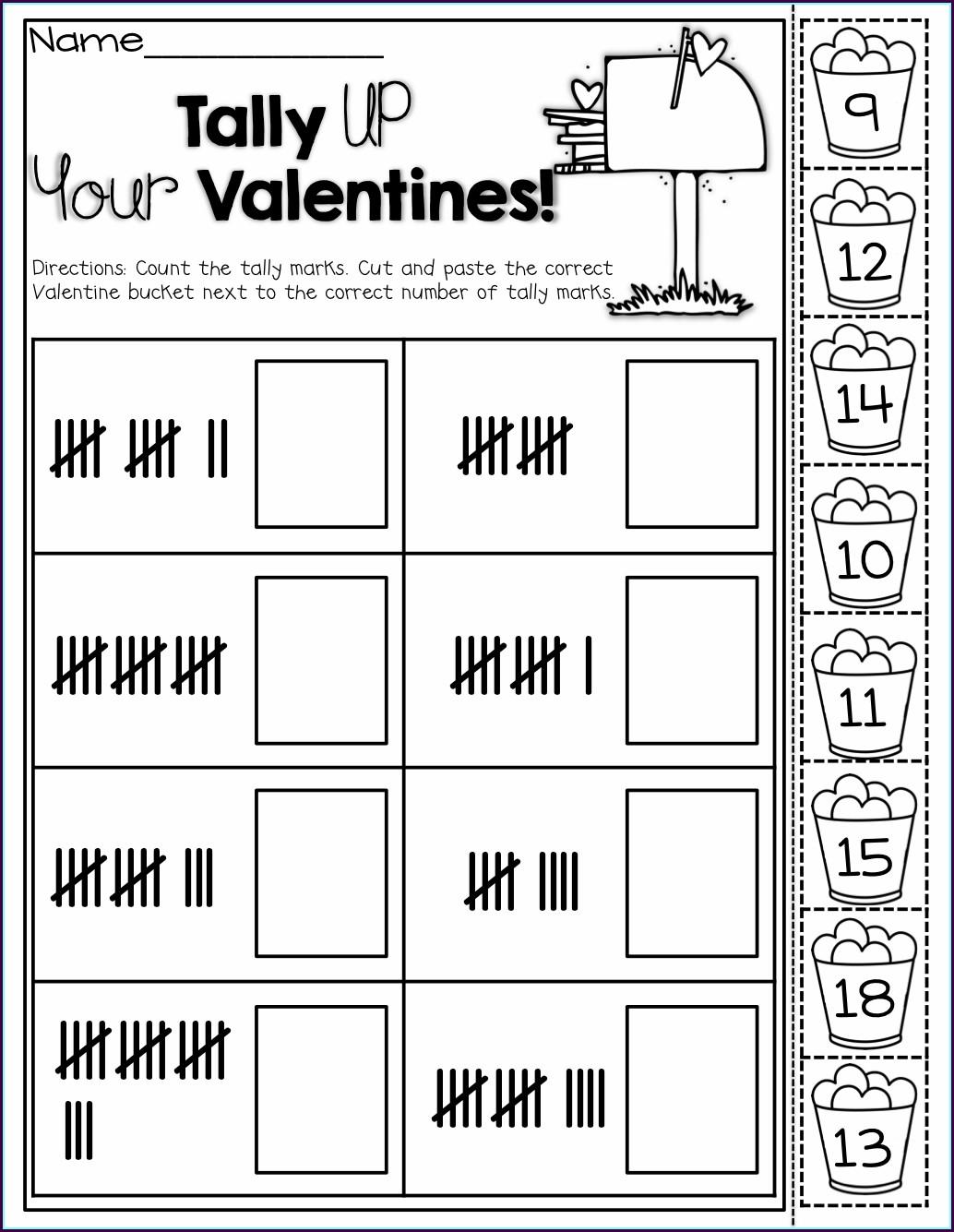 Valentine Math Worksheet First Grade