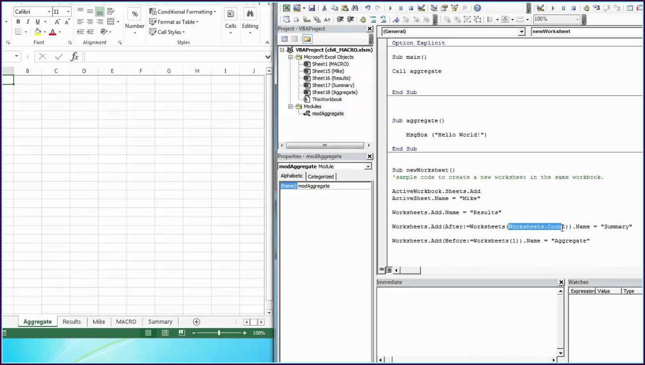 Vba Get Worksheet Object Name