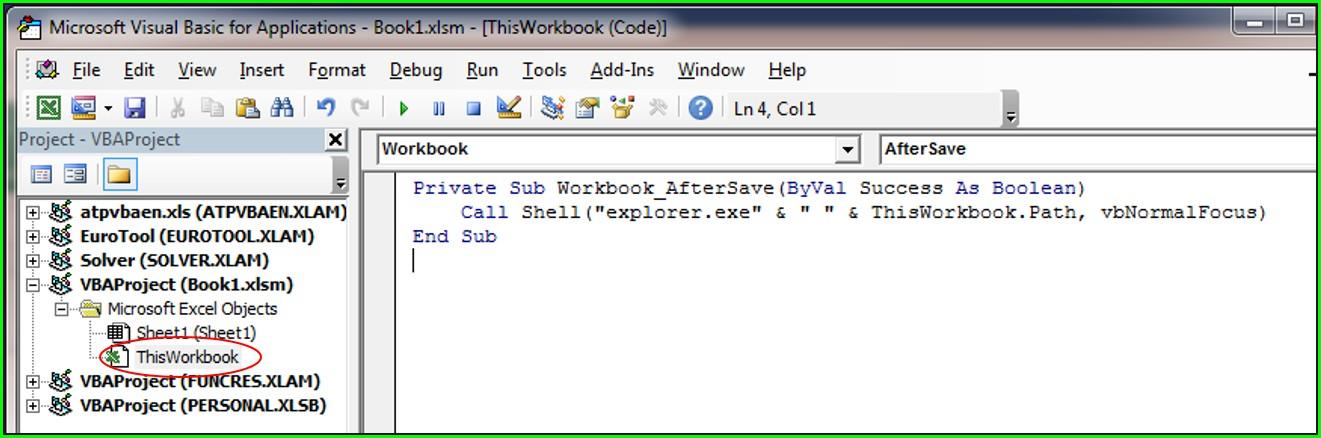 Vba Save Workbook To Folder