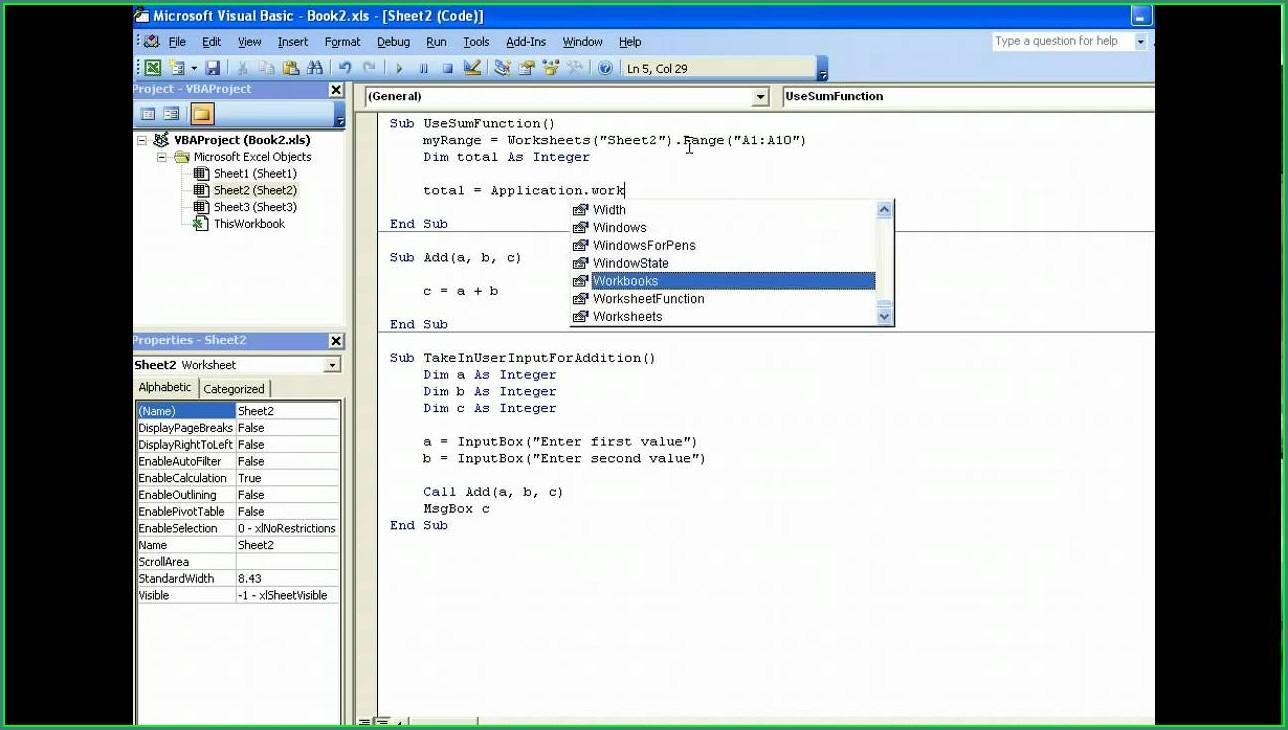Vba With Worksheet Function