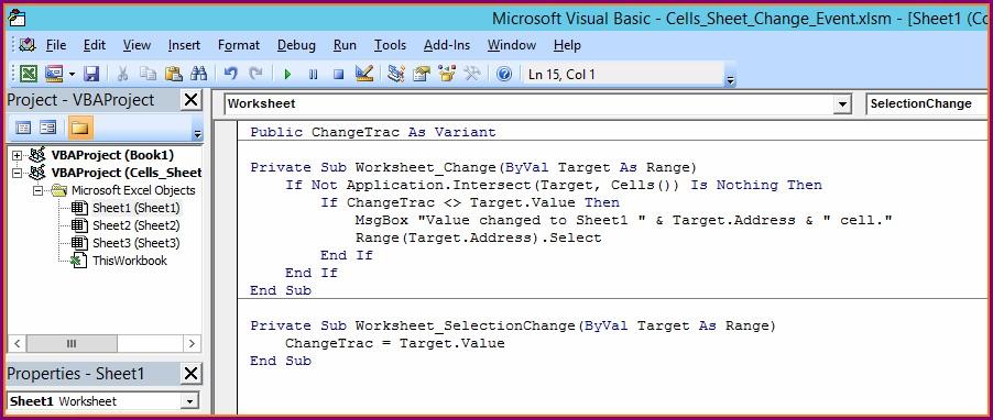 Vba Worksheet Change Target Range