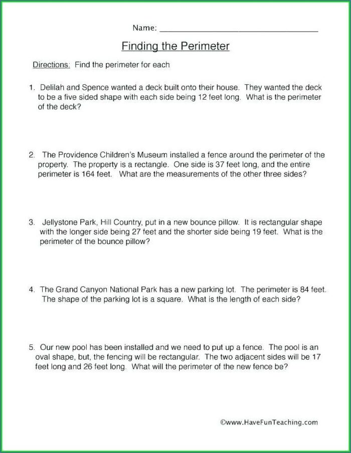 Volume Word Problems 5th Grade Worksheet